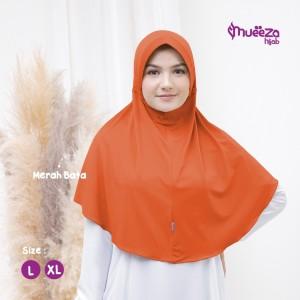 Harga jilbab hijab dewasa instan syar 39 i size xl model alsha mueeza hijab   merah   HARGALOKA.COM
