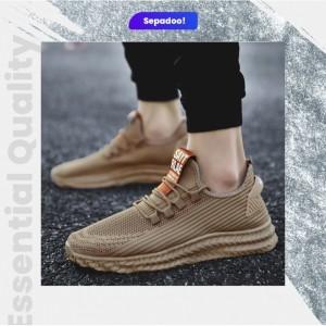 Harga sepadoo sport shoes pria law sepatu running olahraga khaki   39 | HARGALOKA.COM