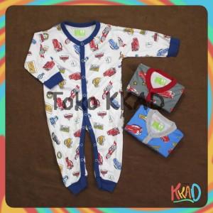 Harga pakaian baju tidur bayi dreamwear sleepsuit velvet junior isi 3pcs   cars bk 3 6 | HARGALOKA.COM