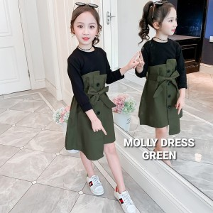Harga bajukiddie molly dress dres anak perempuan korea import baju impor   brown | HARGALOKA.COM