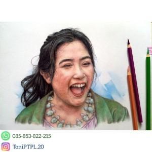 Harga jasa lukis sketsa wajah berwarna tanpa bingkai ukuran a4 dan a3   a4 1 | HARGALOKA.COM