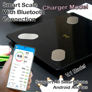 Harga timbangan badan digital body fat monitor koneksi bluetooth smartphone   | HARGALOKA.COM