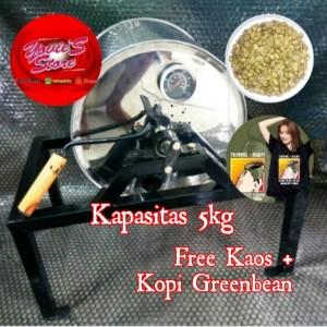 Harga mesin roasting kopi dan kacang   alat sangrai kopi free kaos | HARGALOKA.COM