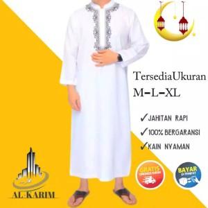 Harga jubah gamis pria dewasa pakistan putih panjang   | HARGALOKA.COM