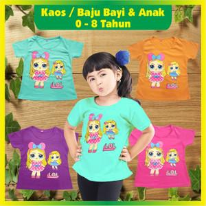Harga baju kaos bayi dan anak perempuan untuk umur 0 8 tahun gambar lol   pink   HARGALOKA.COM