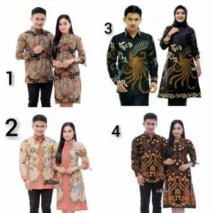 Harga batik couple sarimbit baju batik pasangan keluarga tunik terbaru   m motif | HARGALOKA.COM