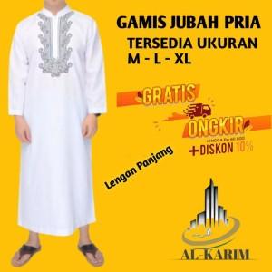 Harga gamis jubah pria modern bordir   | HARGALOKA.COM