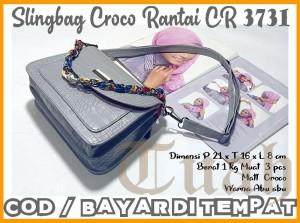 Harga tas wanita sl croco rantai cr 3731 gratis ongkir bayar ditempat   | HARGALOKA.COM