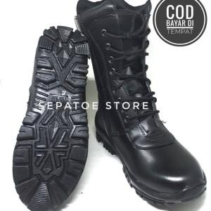 Harga sepatu pdl tni polisi polri jatah security satpam doff   hitam | HARGALOKA.COM
