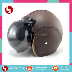Katalog Helm Retro Kulit Dewasa Warna Coklat Katalog.or.id