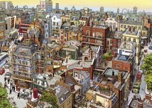 Harga jigsaw puzzle 1000 pcs   the world of sherlock holmes   wooden | HARGALOKA.COM