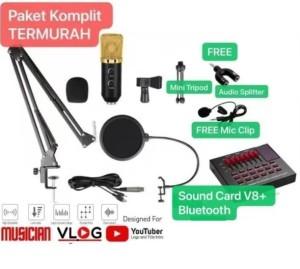 Harga paket komplit rekaman bm 800 upgrade condenser sound | HARGALOKA.COM