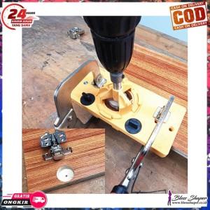 Harga xcan alat bantu bor hinge jig drill guide woodworking locator   HARGALOKA.COM
