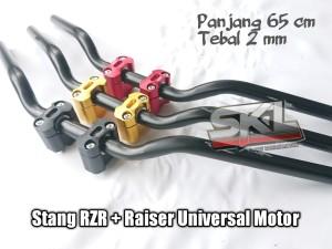 Harga stang rzr custom balap roadrace include raiser cnc universal motor   | HARGALOKA.COM