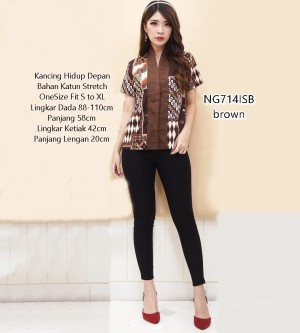 Harga baju blouse batik atasan wanita jawa parang formal kerja kantor ng714   | HARGALOKA.COM