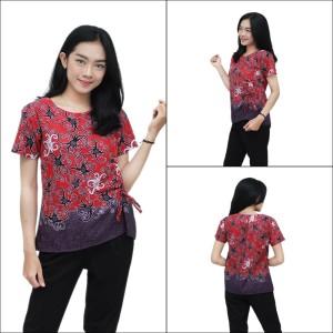 Harga blouse batik atasan batik wanita model kekinian s 5l size lengkap   | HARGALOKA.COM