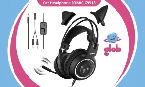 Harga somic g951s cat headphone gaming kucing headset streamer mic hp ps4 | HARGALOKA.COM
