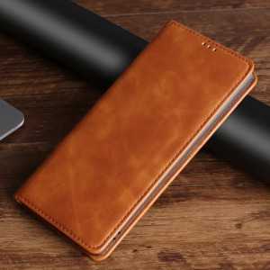 Harga samsung s20 fe s20fe leather case magnet flip cover sarung hp kulit   coklat   HARGALOKA.COM