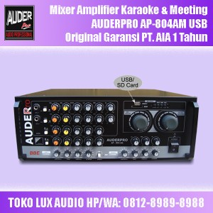 Harga mixer amplifier auderpro ap 804am usb untuk karaoke amp meeting | HARGALOKA.COM