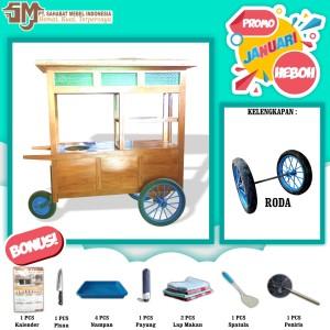 Harga rombong kayu murah atau gerobak gorengan roda 3 promo januari   kayu | HARGALOKA.COM