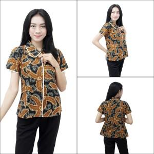 Harga atasan batik kemeja batik wanita seragam kerja s m l xl xxl 3l 4l 5l m   | HARGALOKA.COM