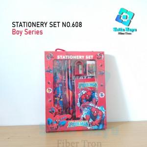 Harga paket alat tulis anak stationery set notes karakter boy | HARGALOKA.COM