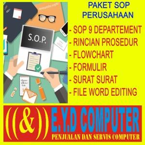 Harga sop perusahaan umum paket s o p departemen perusahaan lengkap dengan   HARGALOKA.COM