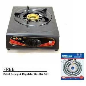 Harga kompor gas 1 set paket selang regulator kompor gas 1 tungku | HARGALOKA.COM