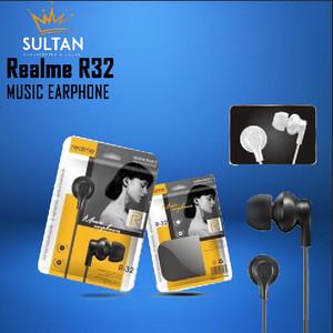 Harga headset hf earbuds headsfree earphone musik gaming realme r32 murah     HARGALOKA.COM