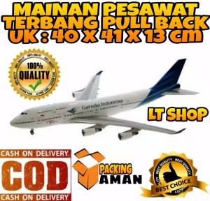 Harga promo mainan anak miniatur pesawat terbang pullback garuda | HARGALOKA.COM