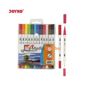 Katalog Brush Pen Joyko 12 Warna Clp 06 Dua Mata Pena Katalog.or.id