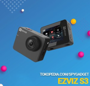 Harga action camera kamera ezviz s3 full hd touchscreen   HARGALOKA.COM