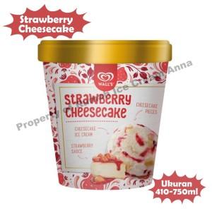 Harga ice cream es krim strawberry cheesecake walls   | HARGALOKA.COM