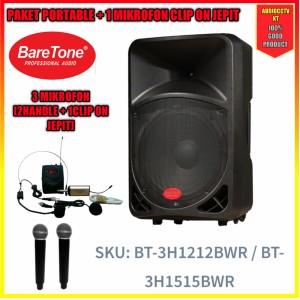 Harga baretone 15 inch bt 3h1515bwr portable | HARGALOKA.COM