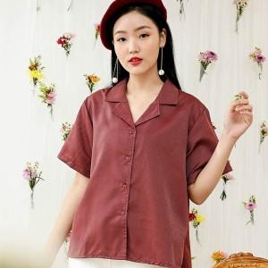 Harga gerald top   red texture  cotton tree   top motif wanita baju | HARGALOKA.COM