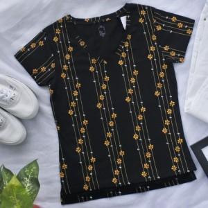 Harga kaos t shirt top wanita v neck lengan pendek branded   | HARGALOKA.COM