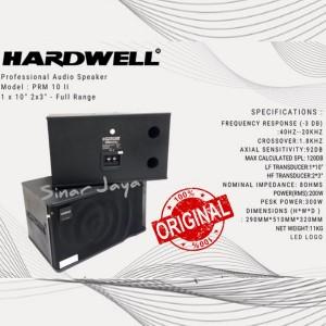 Harga speaker pasif 10 inch full range hardwell prm 10 ii garansi | HARGALOKA.COM