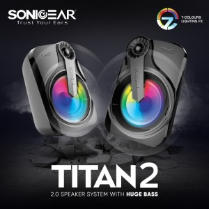 Harga sonic gear titan 2 speaker system with huge bass and 7 color | HARGALOKA.COM