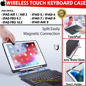 Harga ipad 5 6 7 8 air 1 2 3 pro 9 7 10 5 bluetooth keyboard touchpad case   ipad 7 10 | HARGALOKA.COM