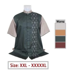 Harga baju koko jumbo pria muslim 20 ukuran big size xxl xxxl xxxxl xxxxxl   hijau tua | HARGALOKA.COM