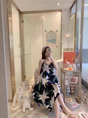 Harga baju tidur daster gaun ibu hamil busui bahan katun rayon premium   | HARGALOKA.COM
