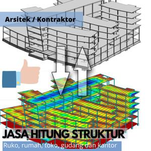 Harga hitung struktur bangunan rumah ruko gudang   HARGALOKA.COM