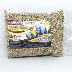 Harga vhenom lovebird mixseed daily or breeding makanan lovebird komplit   HARGALOKA.COM
