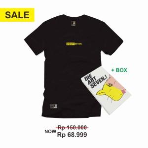 Harga kaos distro dieartseven small font yellow black   | HARGALOKA.COM