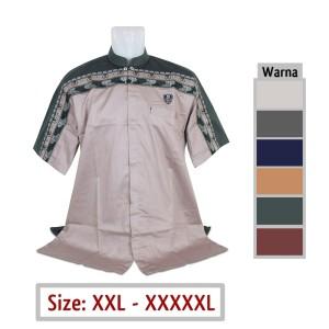 Harga kemeja pria jumbo baju koko 44 muslim big size xxl xxxl xxxxl xxxxxl   abu muda | HARGALOKA.COM