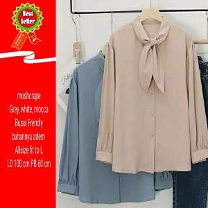 Harga baju atasan wanita polos casual murah blouse cewek kerja | HARGALOKA.COM