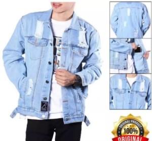 Harga m l xl xxl xxxl xxxxl jumbo jaket jeans sobek pria jaket levis sobek   bioblits   HARGALOKA.COM