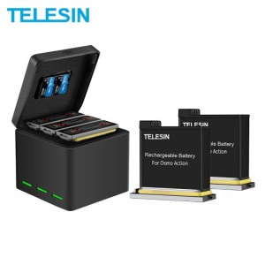 Harga dji osmo action telesin charger battery kit 3 slot and 2   HARGALOKA.COM