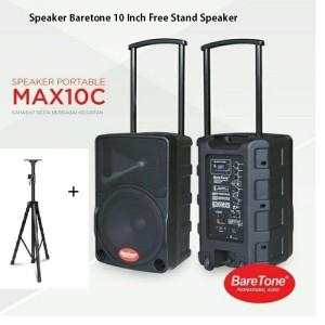 Harga speaker aktif portable baretone max10c free stand   HARGALOKA.COM