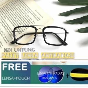 Harga paket hemat kacamata tony stark dengan lensa minus | HARGALOKA.COM